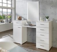 Toaletní stolek se zrcadlem PAMELA 310 alpská bílá