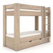 Dětská patrová postel REA Pikachu pravá - dub bardolino
