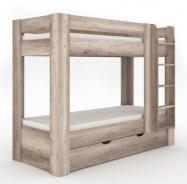 Dětská patrová postel REA Pikachu pravá - dub canyon