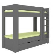 Dětská patrová postel REA Pikachu pravá - graphite