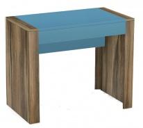 Psací stůl REA Jamie - tmavě modrý šuplík