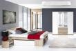 Ložnice MILO III (postel 160, skříň)
