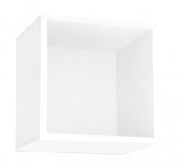Závěsná skříňka REA Rebecca 6 s dvířky/bez dvířek - bílá