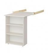 Závěsný stolek Amenity - masiv/bílá