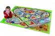 Dětský hrací koberec Město s letištěm 3D - 100x150cm