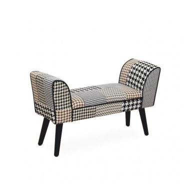 Designová lavice, látka patchwork, PEPITO TYP 7