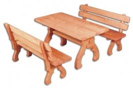 OM-106 zahradní sestava (1 x stůl + 2 x lavice)