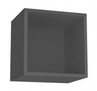 Závěsná skříňka REA Rebecca 6 s dvířky/bez dvířek - graphite