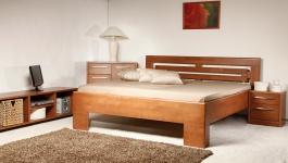 Masivní postel s úložným prostorem Varezza 2 - 160/180 x 200cm - výběr odstínů