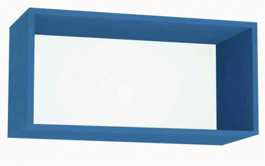 Závěsná skříňka REA Rebecca 7 s dvířky/bez dvířek - pow blue