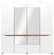 Šatní skříň LIONEL 4D - dub sonoma truflový/bílý lesk