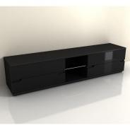 RTV stolek, černý vysoký lesk, ADONIS AS 30