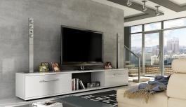 TV stolek MALTON - bílý lesk