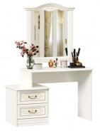 Toaletní stolek se zrcadlem Valentina - alabastr