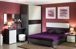Ložnice Franchesca II - wenge/šedá/čokoláda