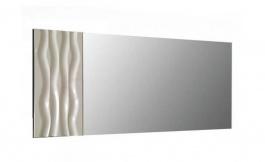 Nástěnné zrcadlo Franchesca - šedá