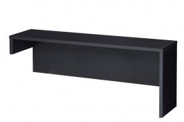 Nástavec k televiznímu stolku VIEVIEN 25 - dub koňak / černý mat