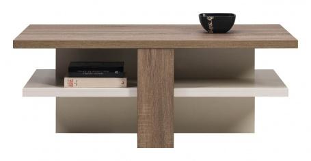 Konferenční stolek LIONEL - dub sonoma truflový/bílý