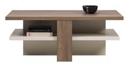 Konferenční stolek LIONEL - dub sonoma truflový/bílý lesk