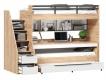 Multifunkční postel Trendy 90x200cm - dub zlatý/bílá