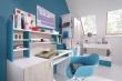 Studentský televizní stolek Saturn - bílá / modrá