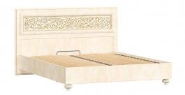 Manželská postel 140x200cm Sofia s klasickým čelem a ortopedickým roštem - béžová/lento