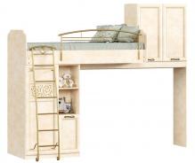 Patrová postel 80x190cm s úložným prostorem Sofia - béžová/lento