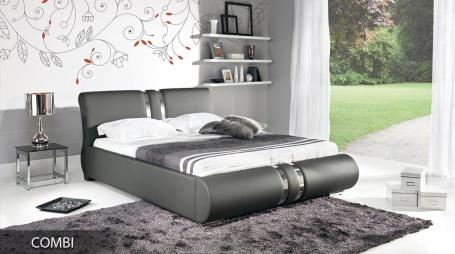 Čalouněná postel COMBI s roštem