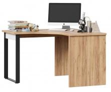 Rohový psací stůl Trendy - dub zlatý/bílá
