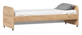 Výsuvné lůžko 80x190cm k vyvýšené posteli Trendy - dub zlatý/bílá