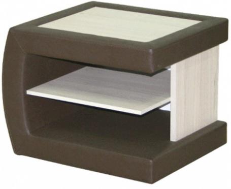 Noční stolek čalouněný ST1 L/P - thuje/hnědá