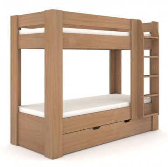 Dětská patrová postel REA Pikachu - buk