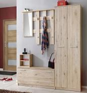 Předsíňová stěna RENO (věšák, botník, zrcadlo, skříň)