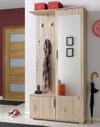 Předsíňová stěna CUBA (věšák, botník, zrcadlo, skříň)
