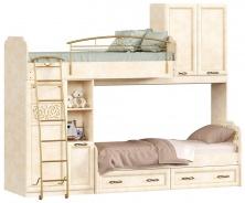 Patrová postel 80x190cm s druhým lůžkem Sofia - béžová/lento