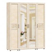 Čtyřdveřová sestava skříní s kombinovanými dveřmi do předsíně Sofia - béžová/lento