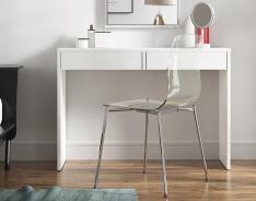 Toaletní stolek / psací stůl, bílá, VIOLET