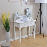 Toaletní stolek / toaletka, bílá, RODES