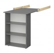 Závěsný stolek Amenity - tmavě šedý