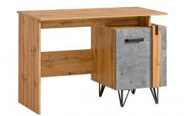 Psací stůl Dorian - beton/dub wotan