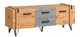 Televizní stolek Dorian - beton/dub wotan