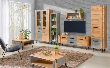 Obývací pokoj Dorian II - beton/dub wotan