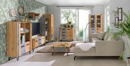 Obývací pokoj Dorian IV - beton/dub wotan
