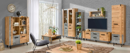 Obývací pokoj Dorian I - beton/dub wotan