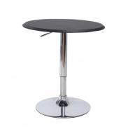 Barový stůl, otočný, s nastavitelnou výškou, chrom / černá, BRANY