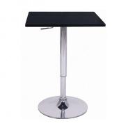 Barový stůl s nastavitelnou výškou, černá, FLORIAN