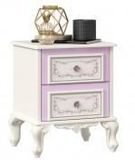 Noční stolek Comtesa - alabastr/fialová