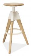 Barová židle BODO bělený dub-bílá