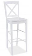 Barová židle CD-964 bílá