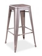 Barová kovová židle LONG nerezová ocel